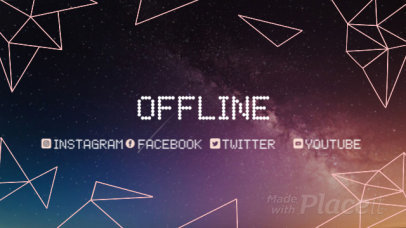 Twitch Offline Screen Video Maker Featuring Animated Geometric Shapes 2660