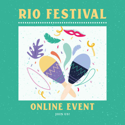 Instagram Post Template for a Carnival-Themed Online Event 3431h