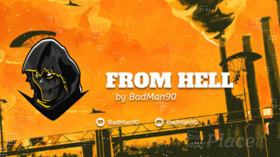 Hellish Twitch Starting Soon Screen Video Maker with an Animated Character 2624