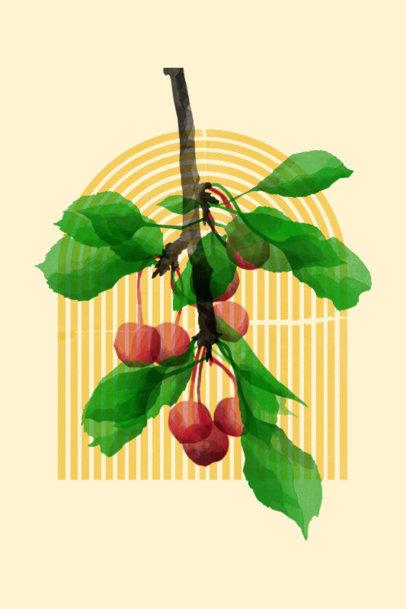 Art Print Design Generator Featuring Watercolor Botanicals 3423e