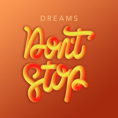 Instagram Post Generator for a Motivational Quote in 3D Typography 3422c