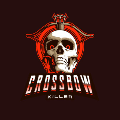 Gaming Logo Maker with a Graphic of a Skull and a Crossbow 4095m