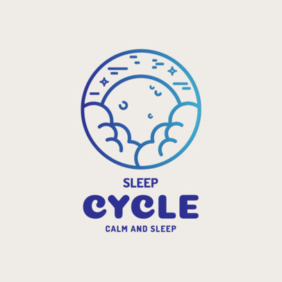 Sleep Aid Logo Template Featuring a Calmed Night Sky 4086g