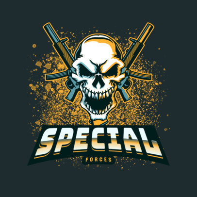 Skull-Themed Logo Creator for a Gaming Squad 4095o