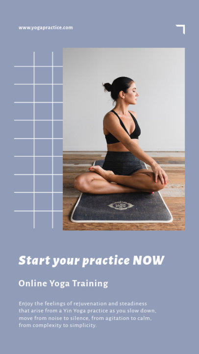 Yoga-Themed Instagram Story Maker with Calming Colors 3610a-el1