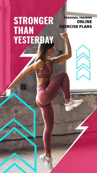 Instagram Story Template for a Personal Trainer Ad 3604-el1