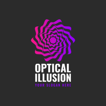 Abstract Logo Maker Featuring Optical Illusion Graphics 4115