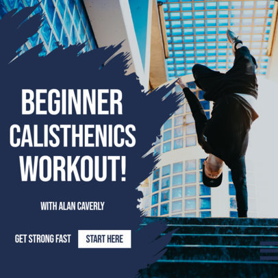 Fitness-Themed Instagram Post Maker for Calisthenics Coaches 3616b-el1