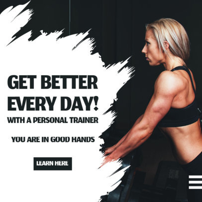 Instagram Post Creator for a Fitness Personal Trainer 3616c-el1