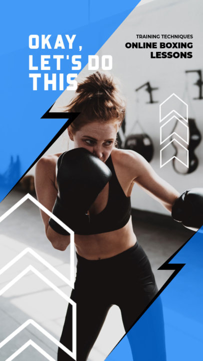Instagram Story Template for a Boxing Coach 3604d-el1