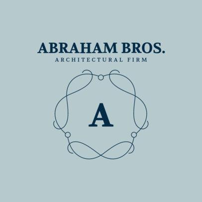 Minimalistic Monogram Logo Creator for an Architecture Firm 3602d-el1