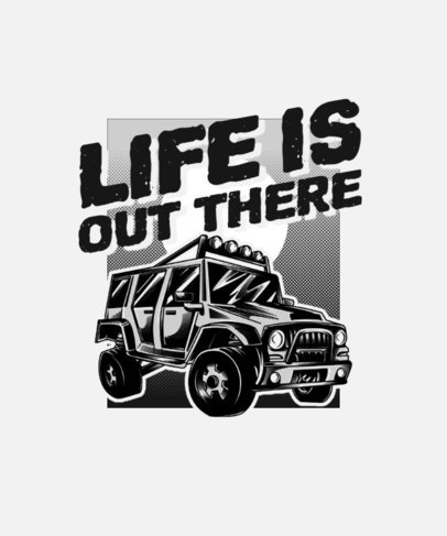 Illustrated T-Shirt Design Creator with an Off-Road SUV 3624f-el1