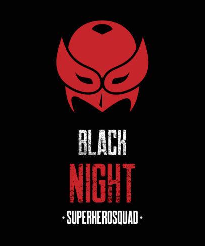 T-Shirt Design Maker Featuring a Nocturnal Hero Mask 3464c