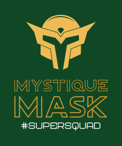 T-Shirt Design Generator Featuring an Illustrated Mask for a Hero Squad 3464g