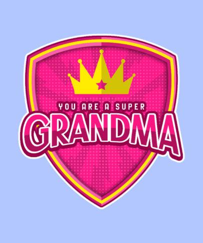 Super-Hero-Inspired T-Shirt Design Maker for a Cool Granny 3463c