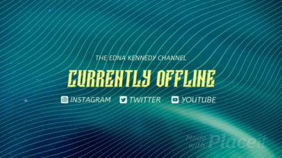 Twitch Offline Screen Video Maker Featuring Animated Waves 2661