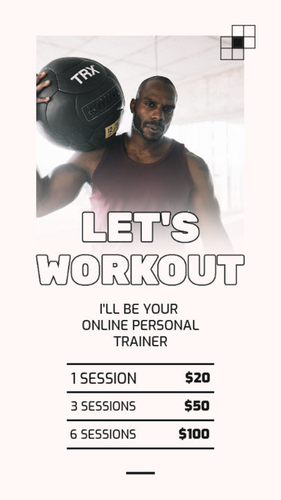 Instagram Story Design Template for a Functional Training Online Coach 3608d-el1
