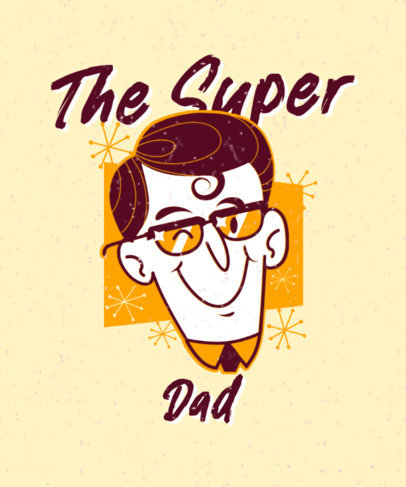 Vintage Superhero-Themed T-Shirt Design Maker for a Dad 3467f