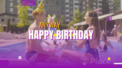 Slideshow Video Maker with a Birthday Theme 2407a-2905-el1