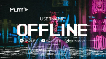 Twitch Offline Screen Video Generator for Musicians with a VHS Aesthetic 2647