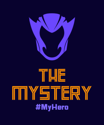 T-Shirt Design Generator with a Mystery Superhero Mask 3464b