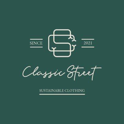 Monogram Logo Maker for Clothing Brands with an Elegant Aesthetic 3598c-el1