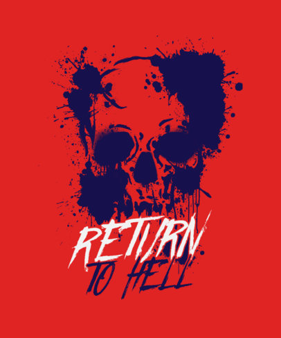 Edgy T-Shirt Design Template with a Skull Graphic and Blood Stains 3452h