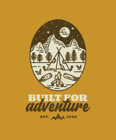 T-Shirt Design Template for Outdoors Adventurers Featuring Simple Illustrations 3622-el1
