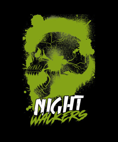 Cool T-Shirt Design Maker with a Horror-Inspired Aesthetic and a Skull 3452i