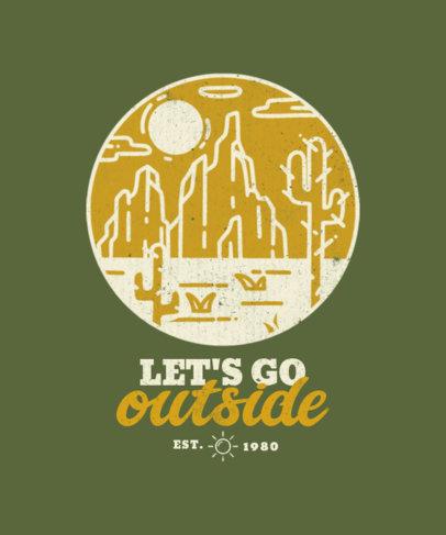 Adventure-Themed T-Shirt Design Maker Featuring an Illustration of the Desert 3622b-el1