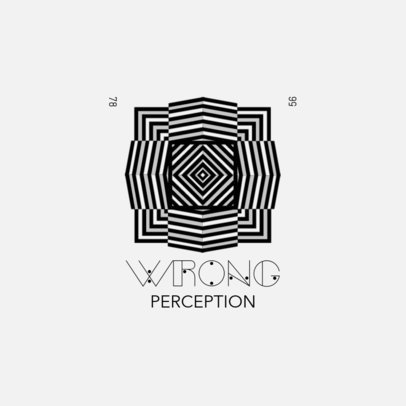 Logo Template with an Abstract Graphic of a Perception Illusion 4116d