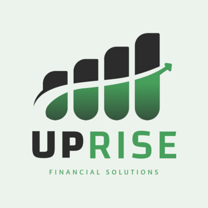 Logo Maker for a Financial Agency with an Abstract Graphic 4112f