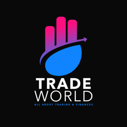 Elegant Logo Maker for Finance and Trading 4112i