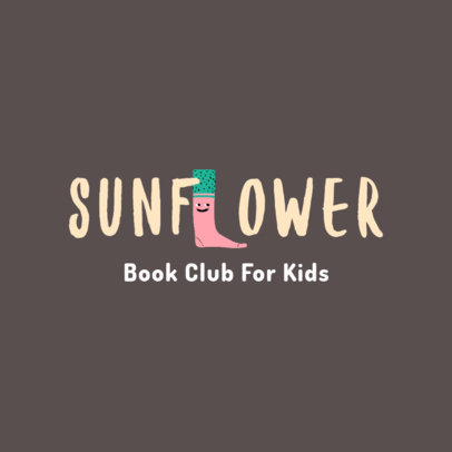 Children's Reading Club Logo Maker Featuring Illustrated Letters 4122f