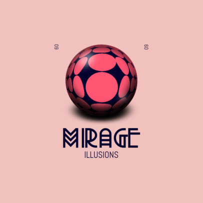Abstract Logo Generator Featuring a Mirage Graphic 4116g