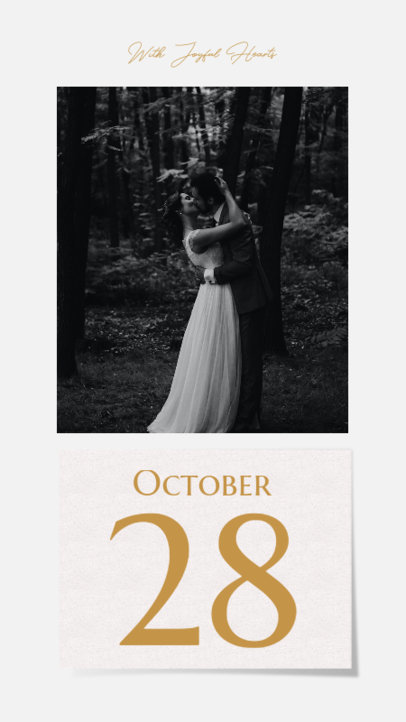 Instagram Story Design Maker for Engaged Couples Featuring a Big Date 3630c-el1