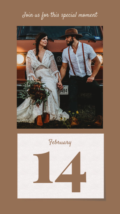 Wedding-Related Instagram Story Design Template Featuring a Date Announcement 3630d-el1