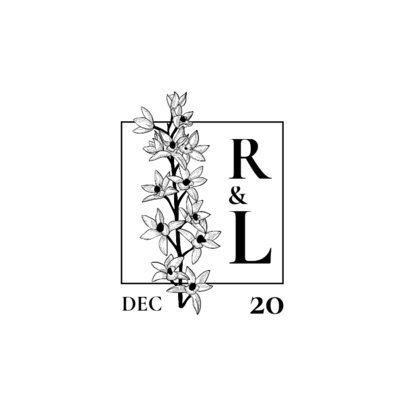 Logo Maker for Wedding Monograms Featuring Blossom Illustrations 3654-el1