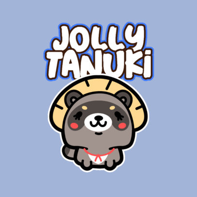 Kids Apparel Brand Logo Generator with a Chubby Kawaii Character 4146f