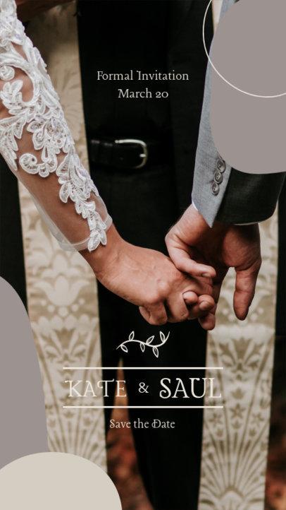 Instagram Story Generator for a Wedding Announcement 3632b-el1