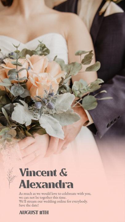 Instagram Story Template for an Online Wedding Stream 3636b-el1