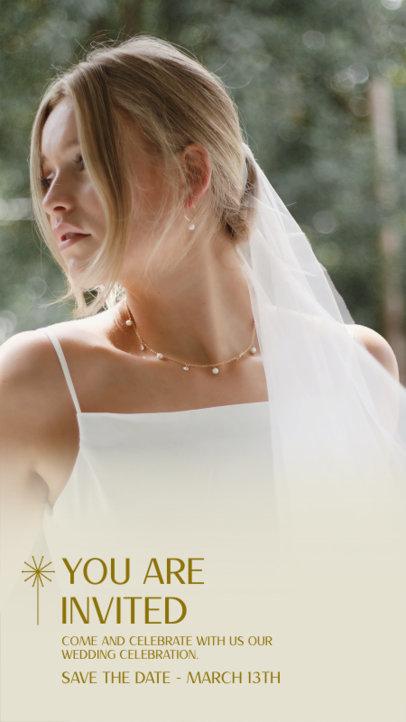 Instagram Story Template for a Virtual Wedding Celebration 3636e-el1