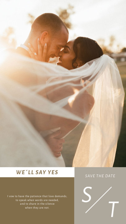 Instagram Story Design Template with a Wedding Theme and a Quote 3628a-el1