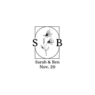 Wedding-Themed Logo Maker Featuring Botanical Graphics 3652-el1