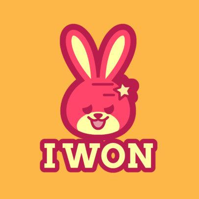 Twitch Emote Logo Creator Featuring a Sassy Bunny 4142a