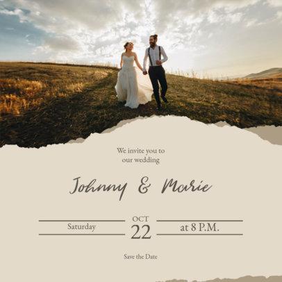 Modern Instagram Post Design Maker Featuring a Wedding Invitation 3644d-el1