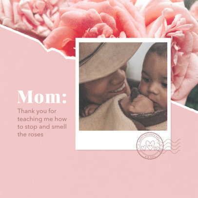 Mother's Day-Themed Instagram Post Maker with a Wholesome Quote 3980b