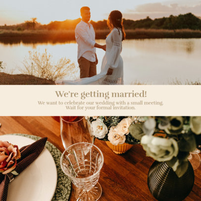 Instagram Post Template to Announce an Upcoming Wedding 3642c-el1