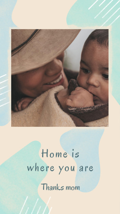 Mother's Day Instagram Story Generator Featuring a Quote and an Abstract Background 3482d