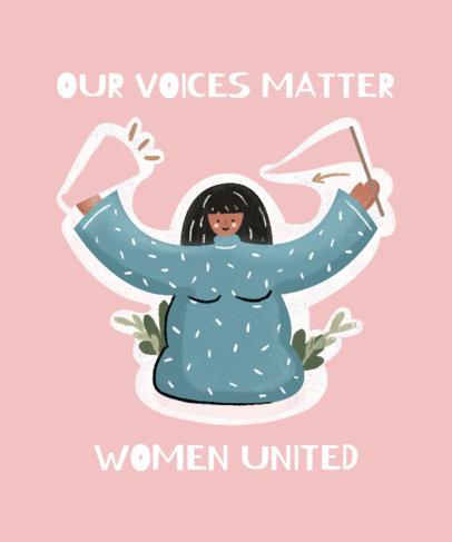 Women's Day T-Shirt Design Maker Featuring an Empowered Woman Graphic 3483f
